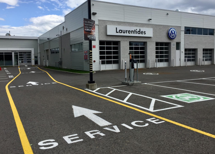Marquage  - Volkswagen Laurentides et Médifice